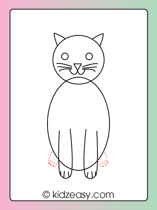 How to Draw a Cat Step 6