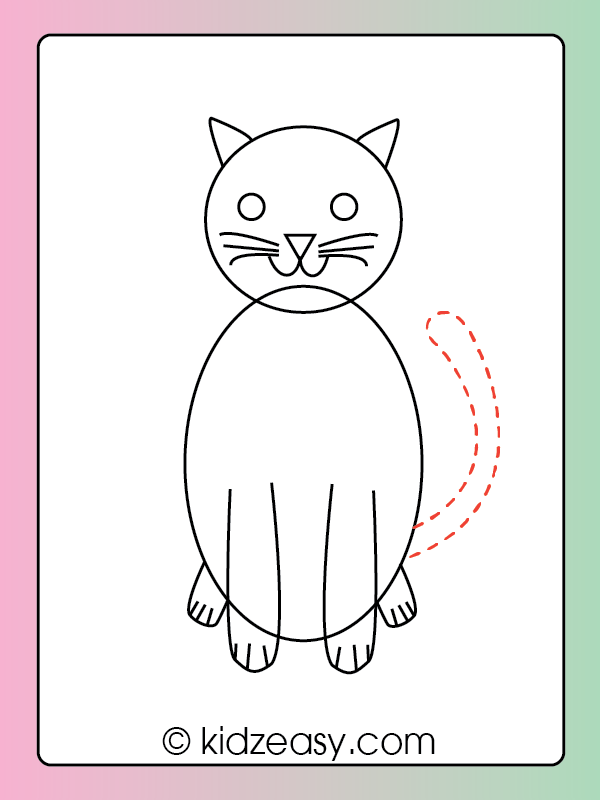 How to Draw a Cat Step 7