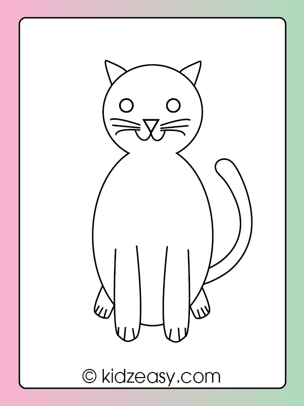 How to Draw a Cat Step 9