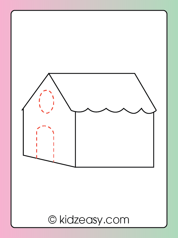 Step 6 How to draw a house