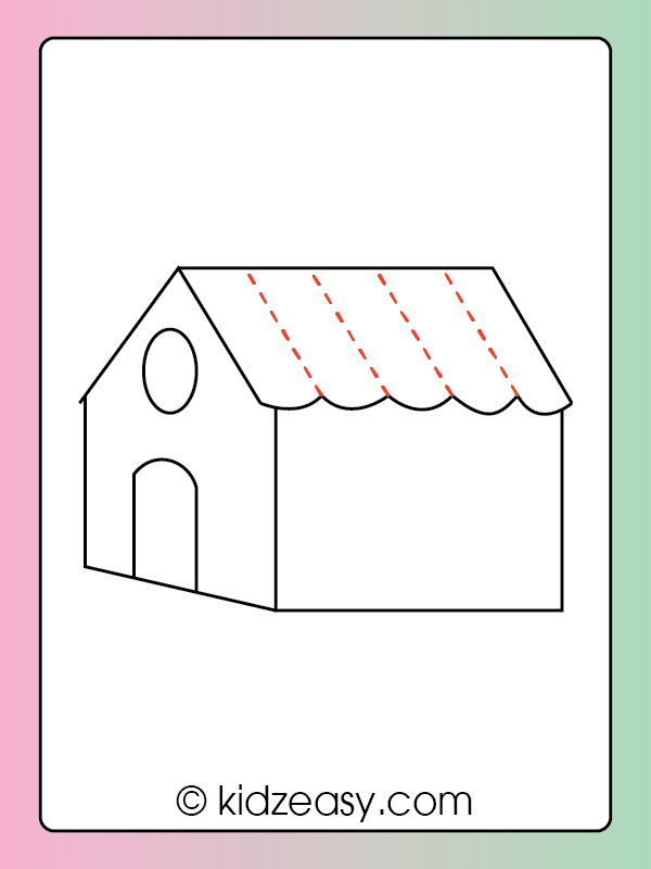Step 7 How to draw a house