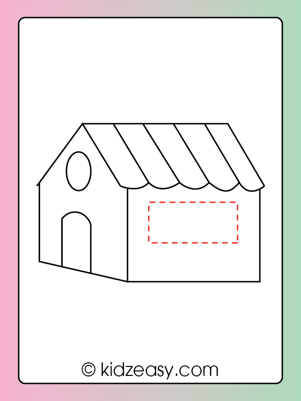 Step 8 How to draw a house