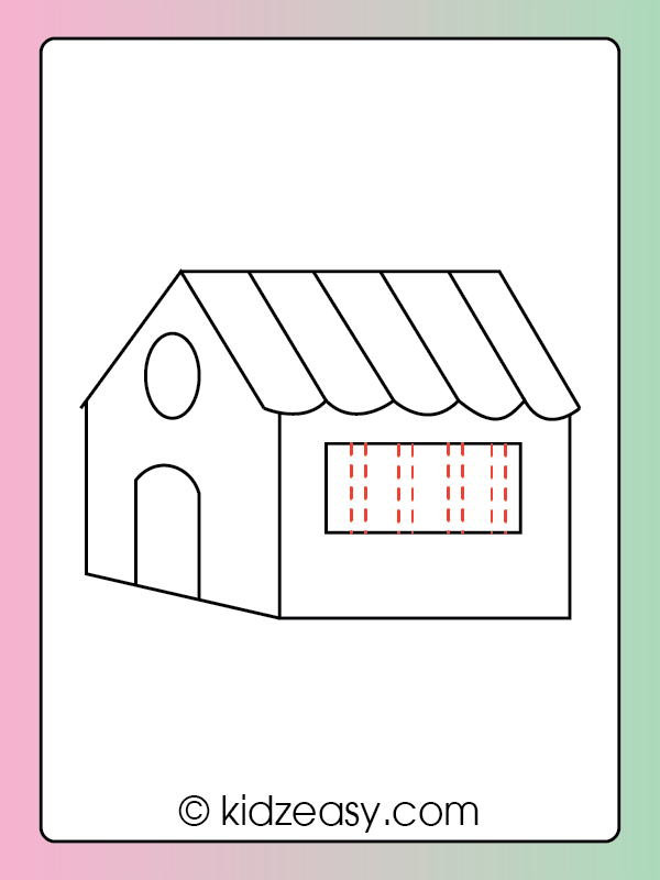 Step 9 How to draw a house
