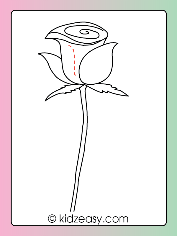 How to Draw a Rose Step 9