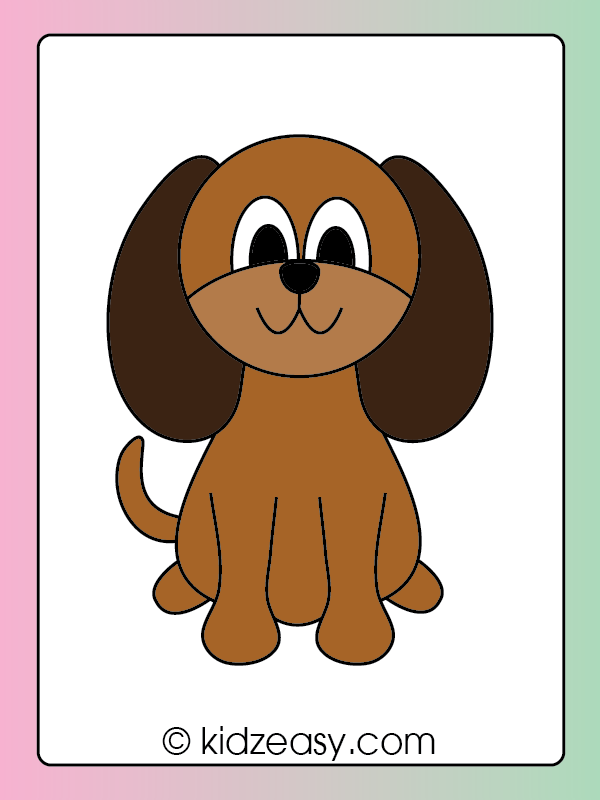 Step 7 Coloring the dog