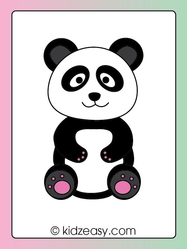Coloring a panda