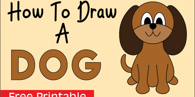 How To Draw A Dog Easy Step By Step Drawing For Kids And Beginners