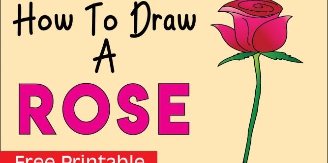 How To Draw A Rose Easy Step By Step Drawing For Kids And Beginners